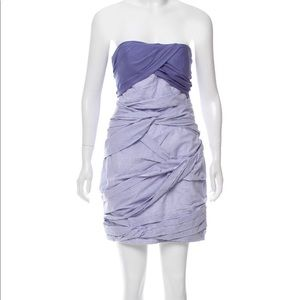Carven | NWOT| Purple strapless cocktail dress
